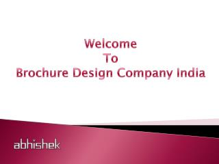 Top Brochure Design Companies India | Top Brochure Designers