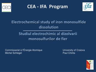 Studiul electrochimic al  dizolvarii monosulfurilor  de fier