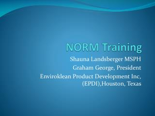 NORM Training