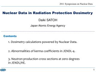 Nuclear Data in Radiation Protection Dosimetry
