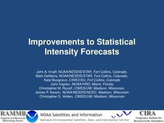 Improvements to Statistical Intensity Forecasts