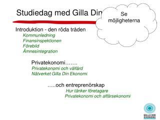 Introduktion - den röda tråden Kommunledning       Finansinspektionen        Förebild