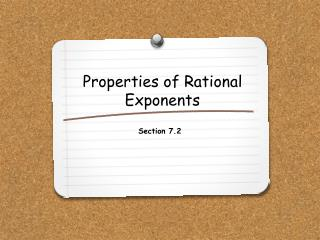 Properties of Rational Exponents