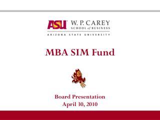 MBA SIM Fund