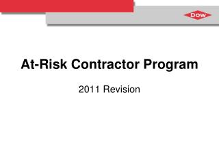 At-Risk Contractor Program