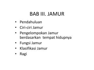 BAB III. JAMUR