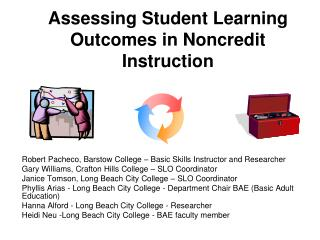 Assessing Student Learning Outcomes in Noncredit Instruction