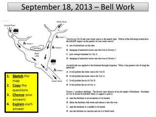 September 18, 2013 – Bell Work