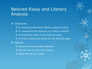 Beloved Essay and Literary Analysis