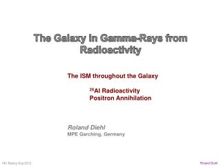 The Galaxy in Gamma-Rays from  Radioactivity