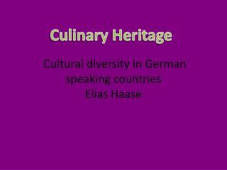 Cultural diversity in German speaking countries  Elias Haase