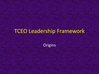 TCEO Leadership Framework