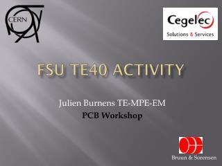 FSU TE40 Activity