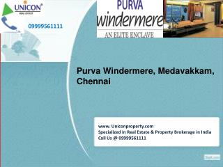 Purva Windermere Apartments Chennai | For Booking Call at 09999561111