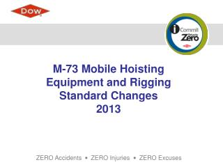 M-73 Mobile Hoisting  Equipment and Rigging  Standard Changes  2013