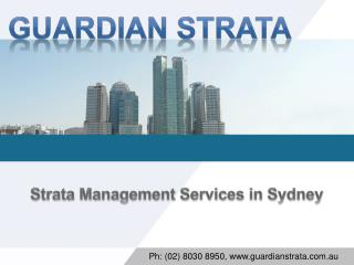 Strata Management Services in Sydney