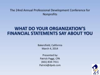 The 24nd Annual Professional Development Conference for Nonprofits
