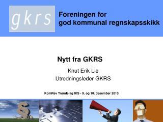 Nytt fra GKRS