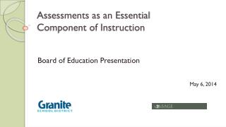 Assessments as  an Essential Component  of  Instruction