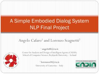 A Simple Embodied Dialog System NLP Final Project