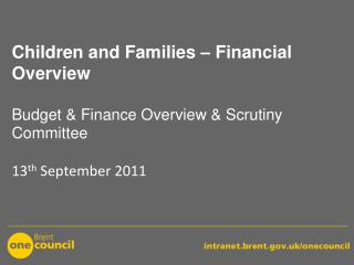 1. 	Children and Families (C&F): Funding Sources