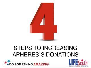 STEPS TO INCREASING  APHERESIS DONATIONS
