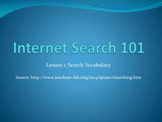 Internet Search 101