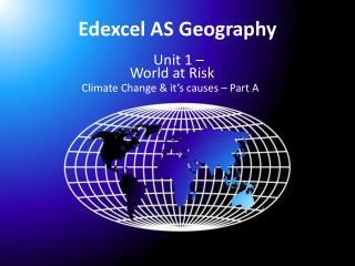 Edexcel  AS Geography