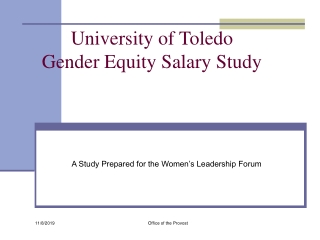 Salary Equity: College of Education