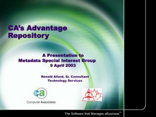 CA s Advantage Repository