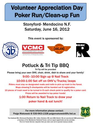 Potluck & Tri Tip BBQ Tri-Tip will be provided
