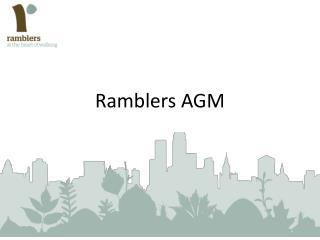 Ramblers AGM