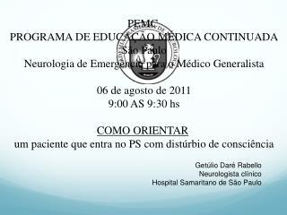 PEMC  PROGRAMA DE EDUCA��O M�DICA CONTINUADA S�o Paulo