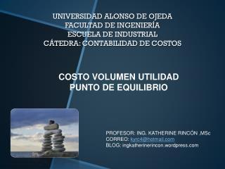 COSTO VOLUMEN UTILIDAD PUNTO DE EQUILIBRIO