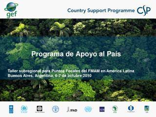 Programa de Apoyo al País