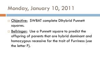 Monday, January 10, 2011