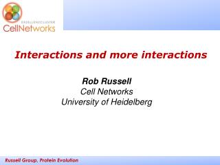 Rob Russell Cell Networks University of Heidelberg