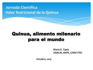 Jornada Científica Valor Nutricional de la Quinua