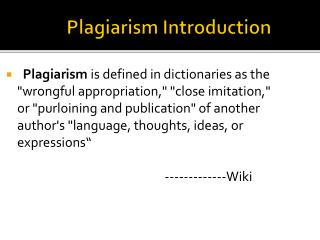 Plagiarism Introduction