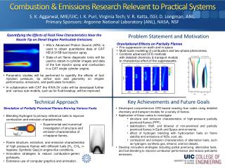 Combustion & Emissions Research Relevant to Practical Systems
