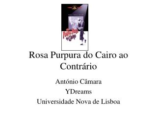 Rosa Purpura do Cairo ao Contr�rio