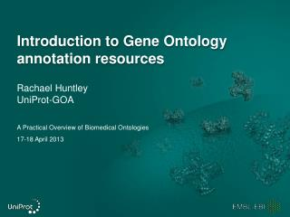 Introduction to Gene Ontology  annotation  resources