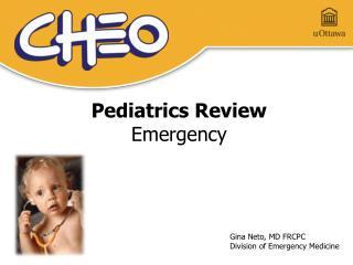 Pediatrics Review Emergency