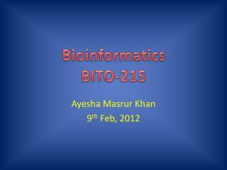 Bioinformatics BITO-215