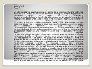 MODULO  No.1 Modulo 1  Modulo No.1 Punto 2.-