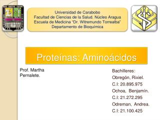Proteínas: Aminoácidos