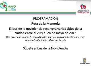PROGRAMACIÓN  Ruta de la Memoria