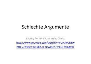 Schlechte Argumente