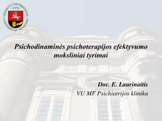 Psichodinaminės psichoterapijos efektyvumo moksliniai tyrimai