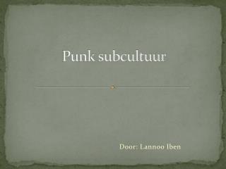 Punk subcultuur
